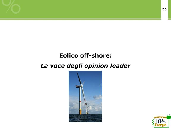 Eolico off-shore: