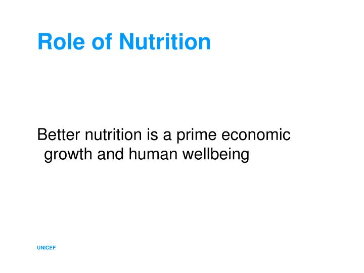 Role of nutrition