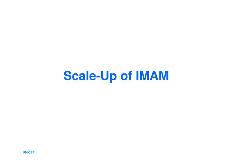 Scale-Up of IMAM