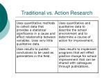 traditional vs action research1