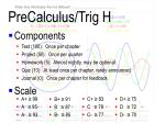 precalculus trig h3