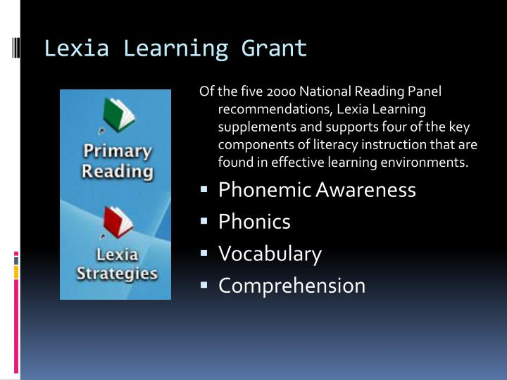 Lexia Learning Grant