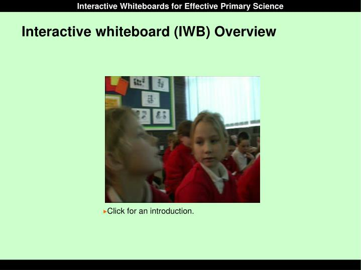 Interactive whiteboard iwb overview