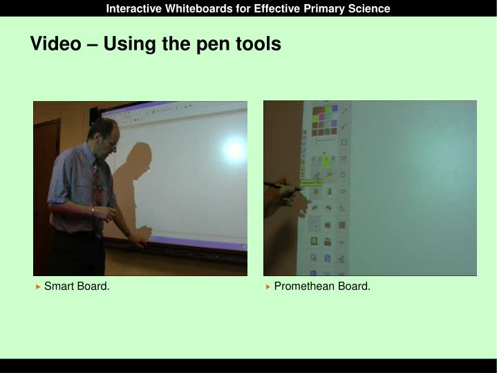 Video – Using the pen tools