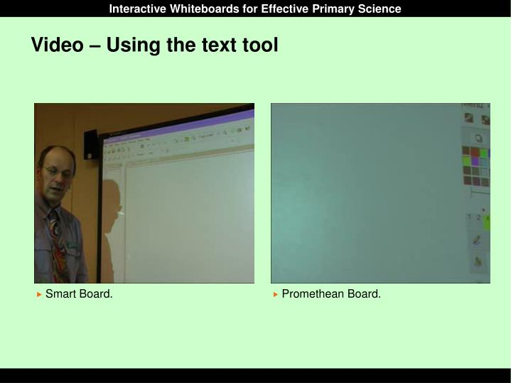 Video – Using the text tool