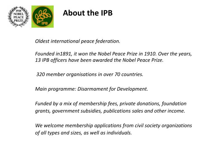 About the IPB