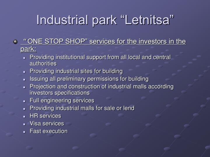 "Industrial park ""Letnitsa"""