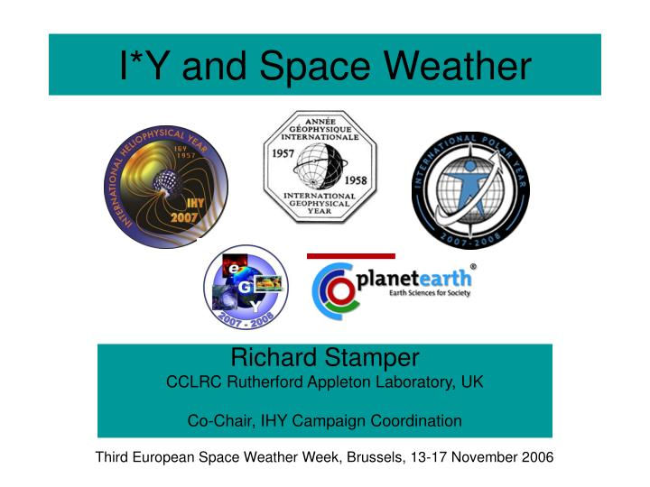 i y and space weather n.