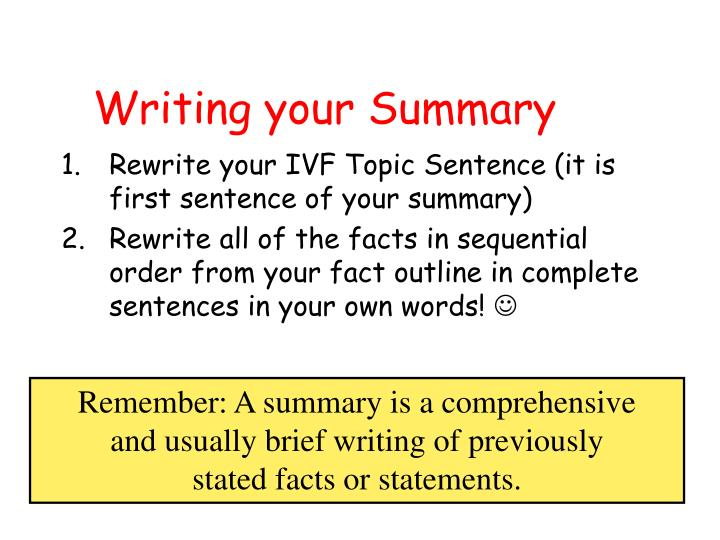 ppt - how to write a summary powerpoint presentation
