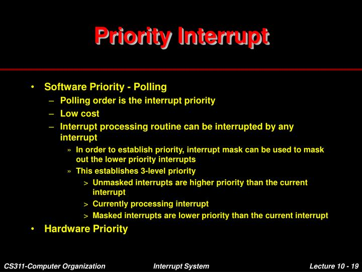 priority interrupt Introduction the intersil 82c59a is a cmos priority interrupt controller,  designed to relieve the system cpu from the task of polling in.