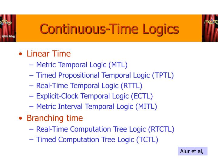 Continuous-Time Logics