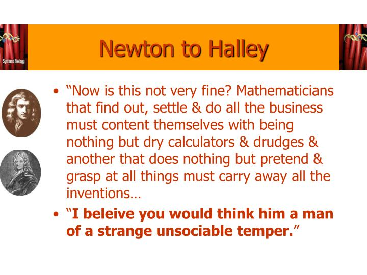 Newton to Halley