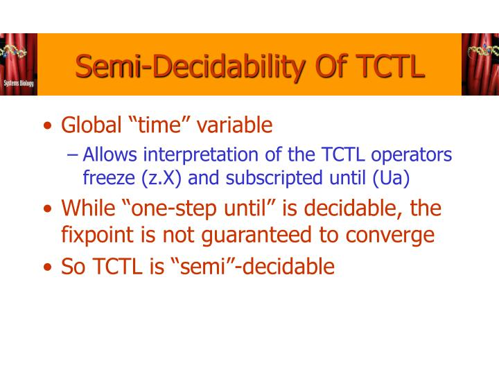 Semi-Decidability Of TCTL