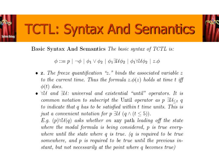 TCTL: Syntax And Semantics
