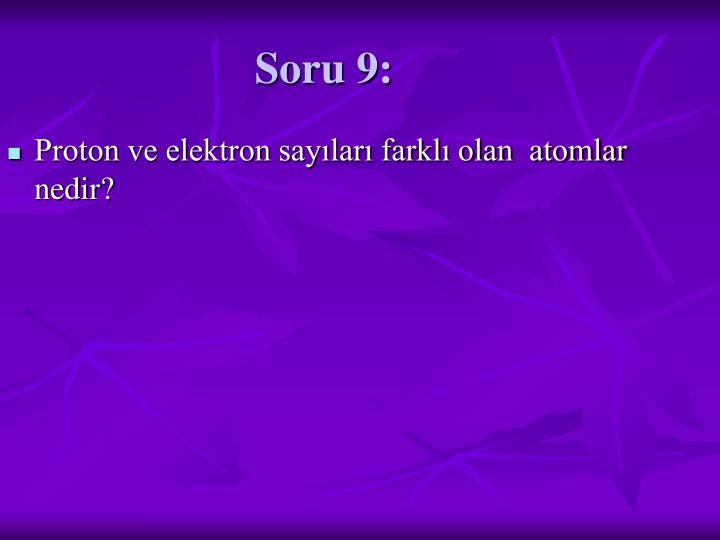 Soru 9:
