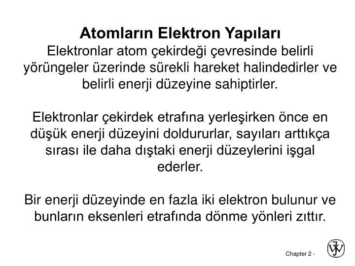 Atomların Elektron Yapıları