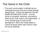 the game in the child
