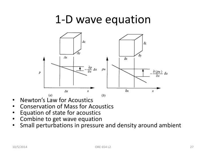 1-D wave equation