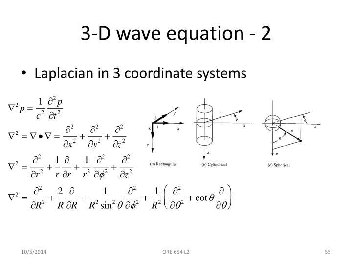 3-D wave equation - 2