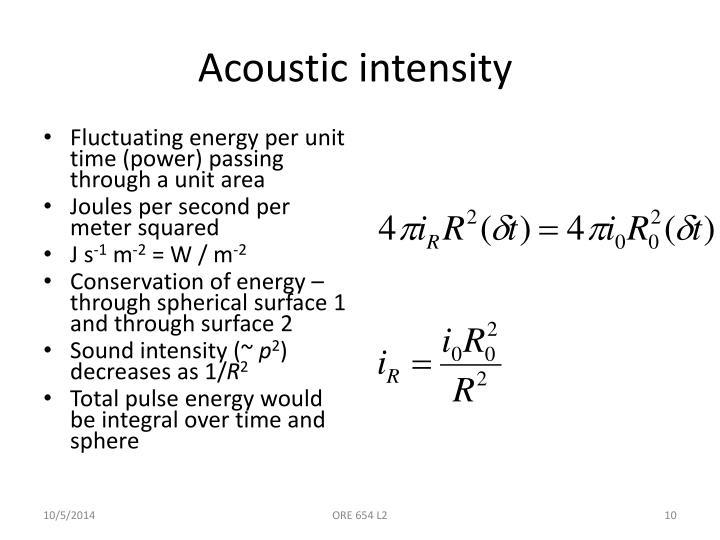 Acoustic intensity