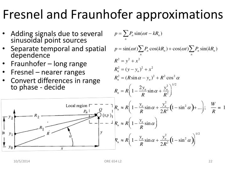 Fresnel and Fraunhofer approximations