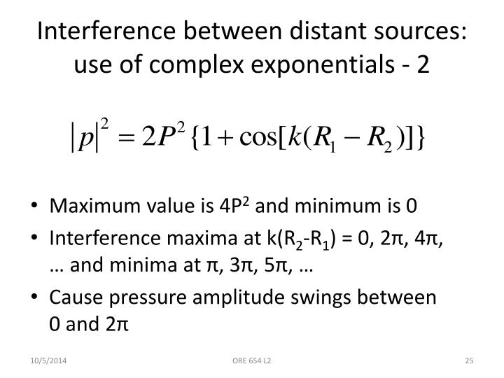 Interference between distant sources: