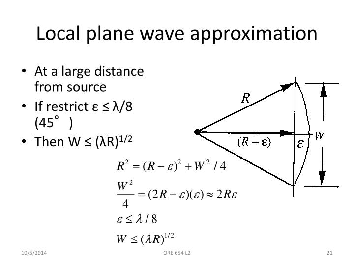 Local plane wave approximation