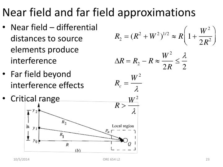 Near field and far field approximations