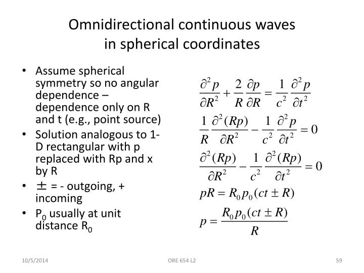 Omnidirectional continuous waves