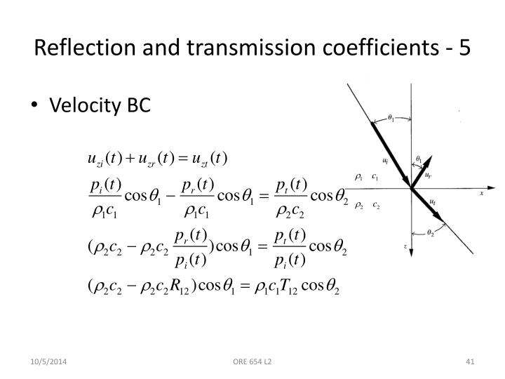 Reflection and transmission coefficients - 5