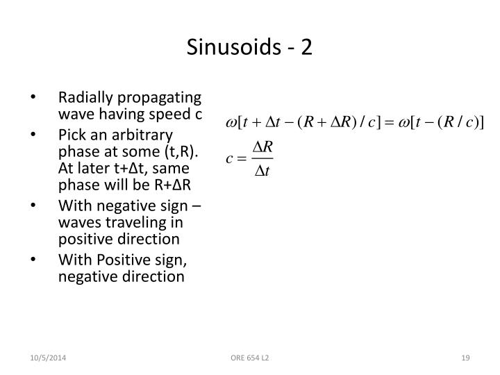 Sinusoids - 2