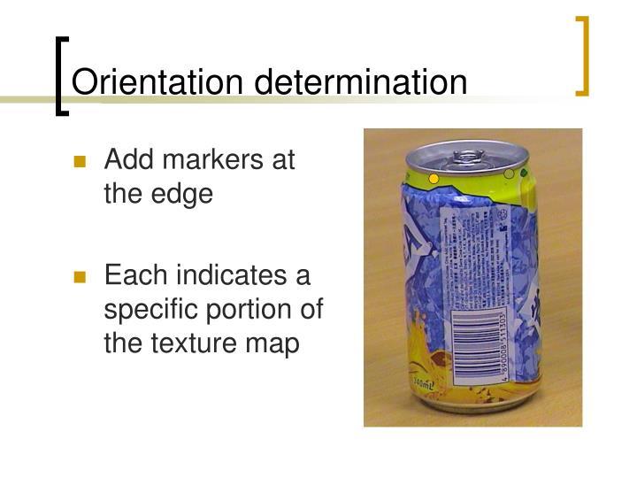 Orientation determination