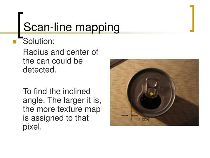 Scan-line mapping