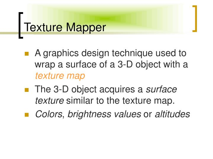 Texture Mapper