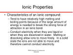 ionic properties