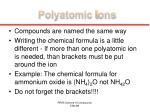 polyatomic i ons
