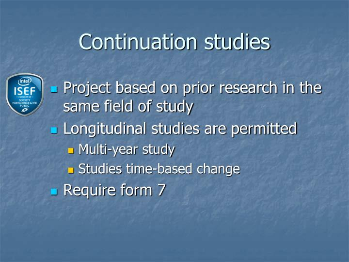 Continuation studies