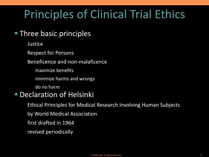 the ethics of the clinical trials The ethics of clinical research in the third world this editorial is one of three articles that started the current debate about appropriate standards of care in clinical trials (the other two were an article by peter lurie and sydney wolfe in the same edition of the new england journal of medicine (see below), and an editorial in the lancet .