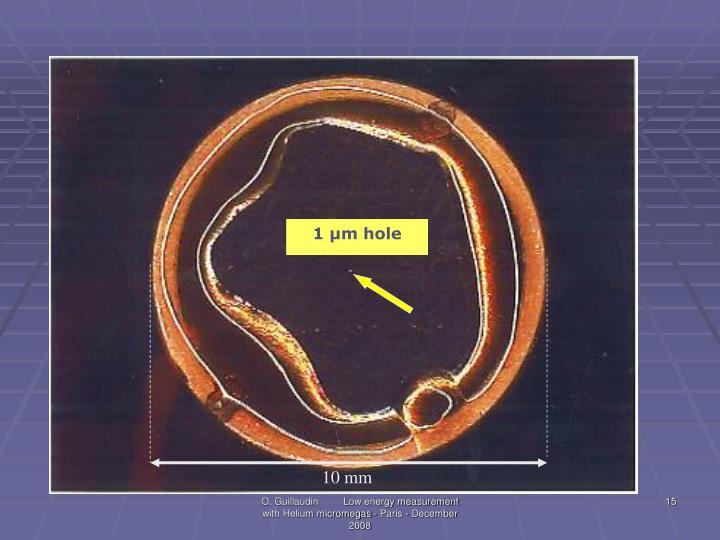 1 µm hole