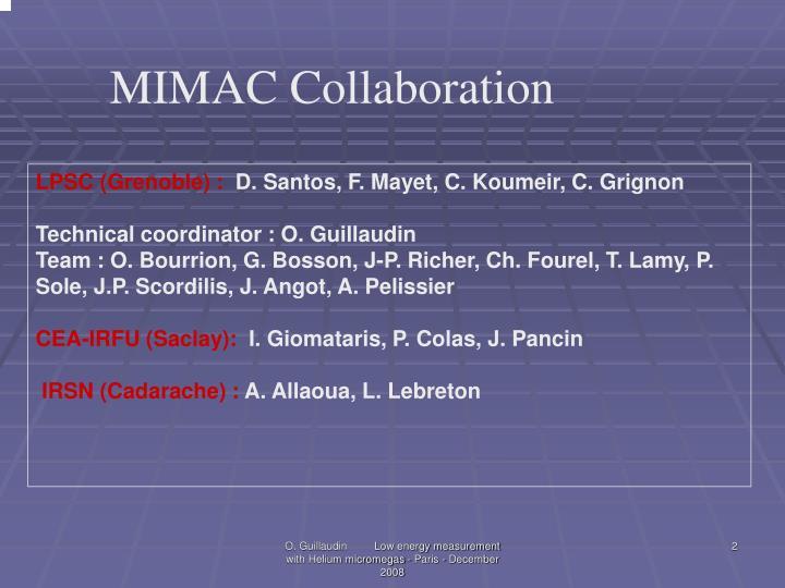 MIMAC Collaboration