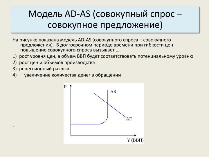 Макроэкономическое модель равновесие.шпаргалка «аd-as».