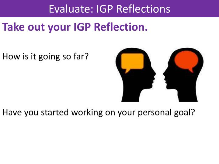 Evaluate: IGP Reflections