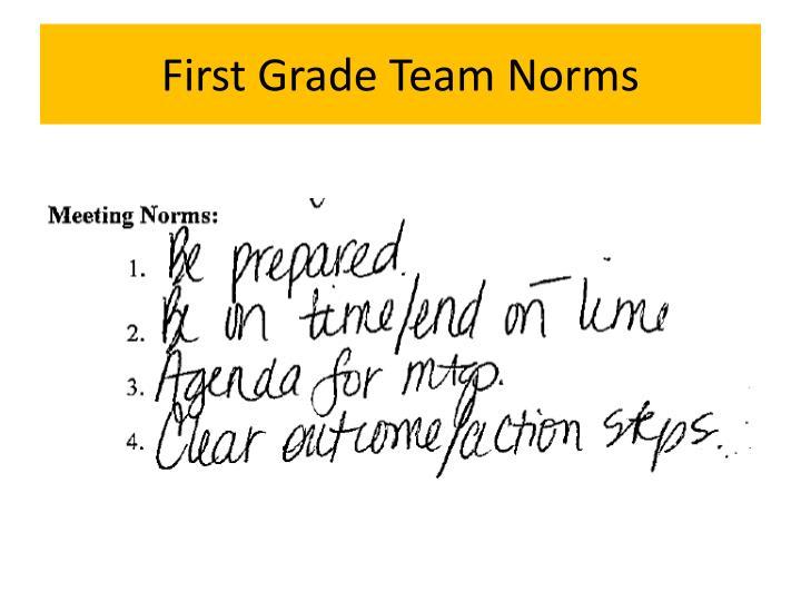 First Grade Team Norms