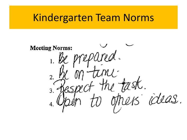 Kindergarten team norms