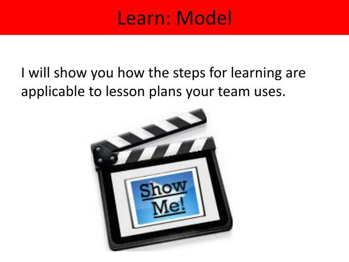 Learn: Model