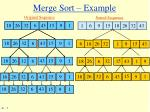 merge sort example
