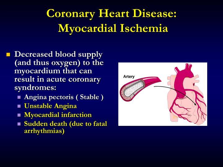 Coronary Heart Disease: