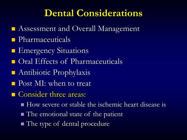 Dental Considerations