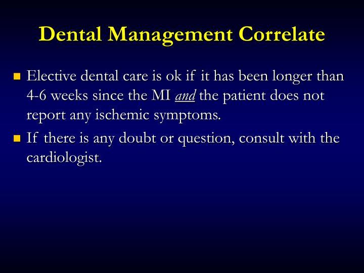 Dental Management Correlate