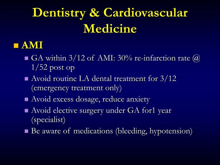 Dentistry & Cardiovascular Medicine